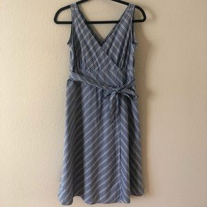 J Crew faux wrap cotton dress